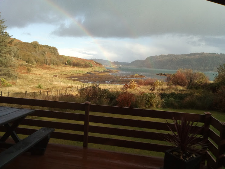 rainbow from chalet
